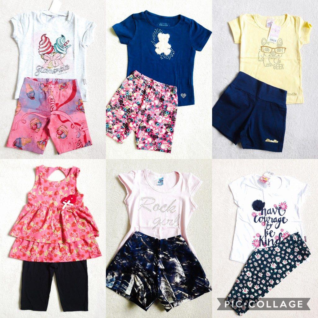 74e26987d Kit 7 Conjuntos Infantis Menina 8