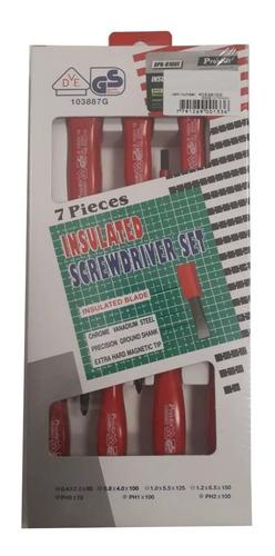 kit 7 destornilladores aislados set juego proskit 8pk-8100e