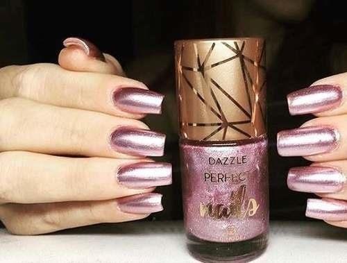 kit 7 esmaltes metalizados dazzle hinode perfect nails