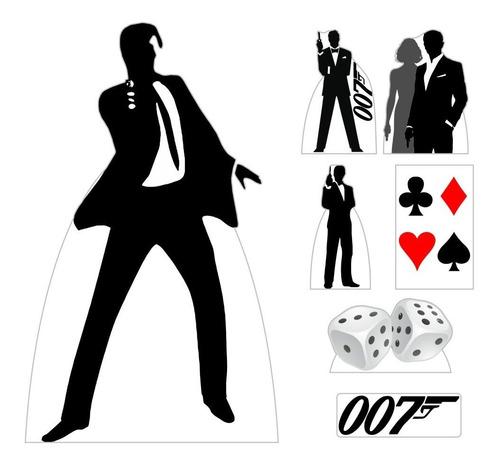 kit 7 festa display totem cassino 007