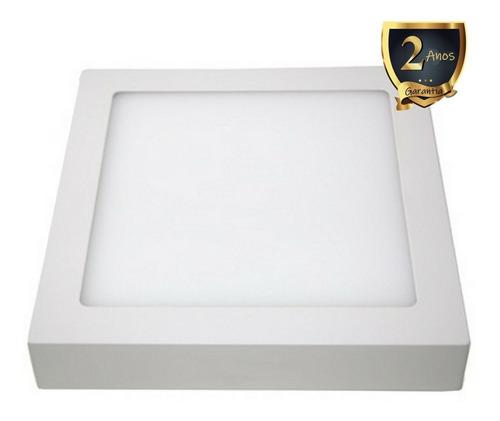 kit 7 painel led sobrepor quadrado 25w 6000k branco frio