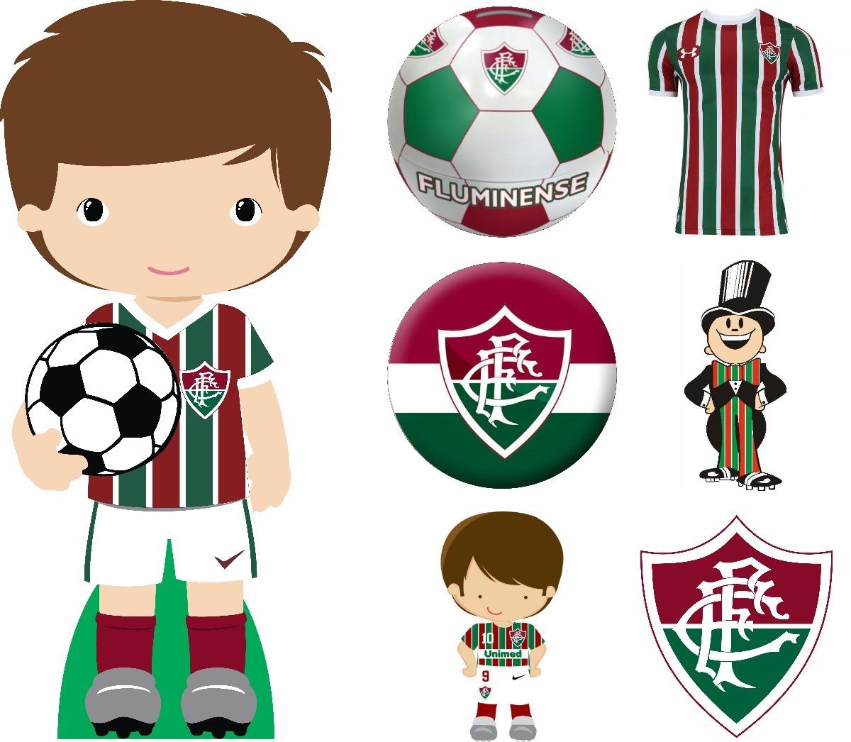 Kit 7 Pçs Display Chão E Mesa Festa Futebol Fluminense Cute - R  74 ... 0e42be42f517e