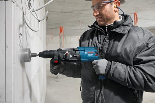 kit 7 pçs serra copo concreto 30 até 75mm c/ haste sds plus