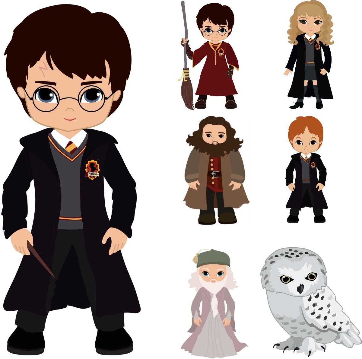 Kit 7 Peças Displays Chão E Mesa Harry Potter Cute