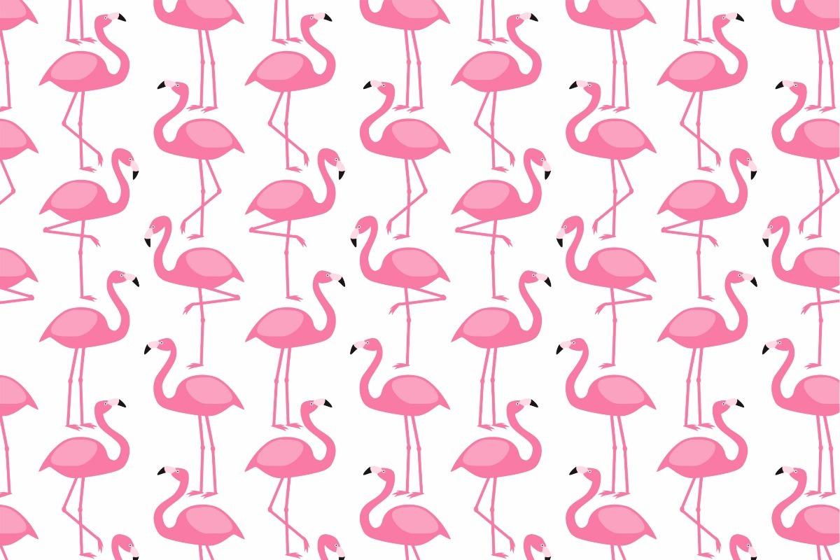 Kit 7 Pecas Painel De Lona 2 00x1 50m Flamingo Tropical 01 R
