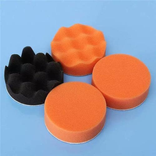 kit 7 piezas borlas / esponjas p/pulir auto 3'  para taladro