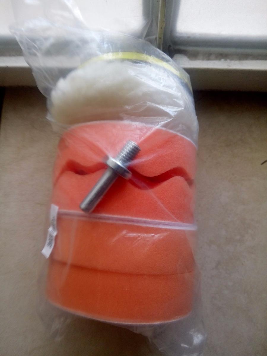 Kit 7 piezas esponjas borla para pulir auto con taladro for Borlas para muebles