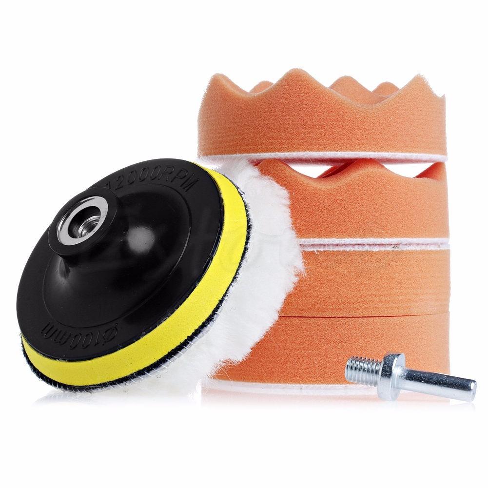 kit 7 piezas esponjas borla para pulir auto con taladro