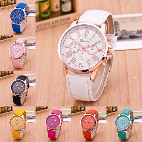 kit 7 relógio feminino barato para revenda couro promoção