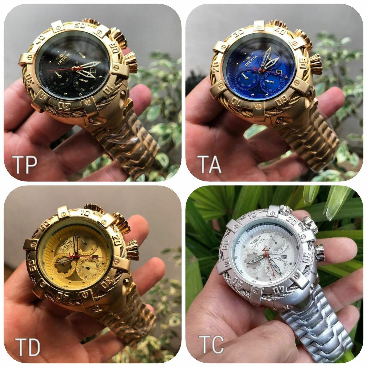 fab7f94710b kit 7 relógios invicta dourado pesado atacado revenda barat. Carregando zoom .