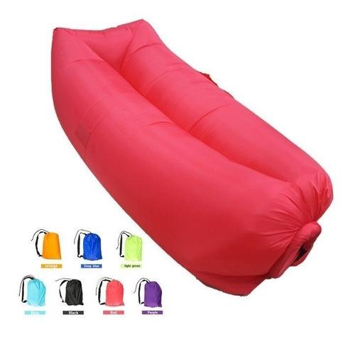 kit  7 saco de dormir inflável - puff - sofá - acampamento
