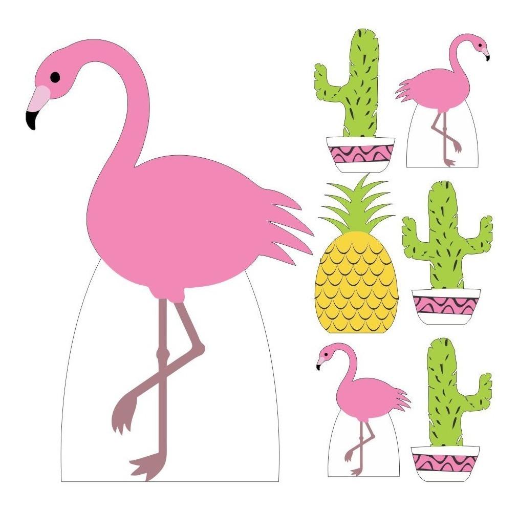 Kit 7 Totem Display Mdf Flamingo Festa Tropical R 74 90 Em