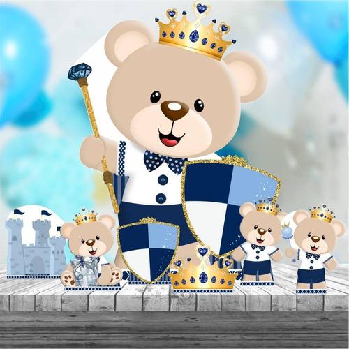 kit 7 totem ursinho príncipe display decoração 88cm