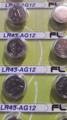kit 72 cartela bateria lr43 1.5v cartela c/ 14pçs flexgold
