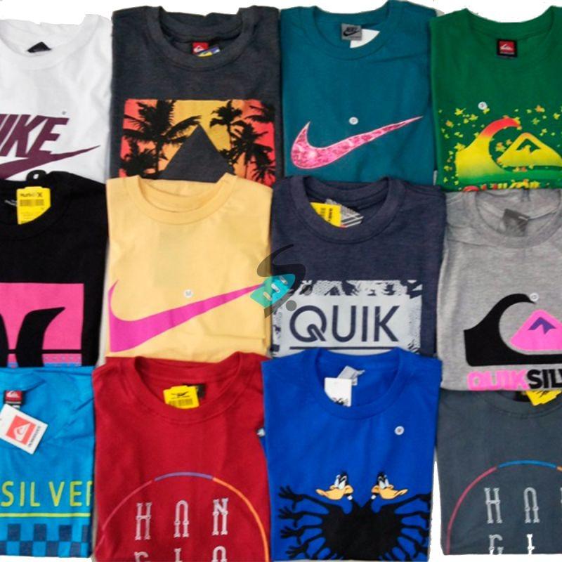 056425ed6 Kit 75 Camiseta Camisa Masculina Marca Estampada Top Atacado - R ...