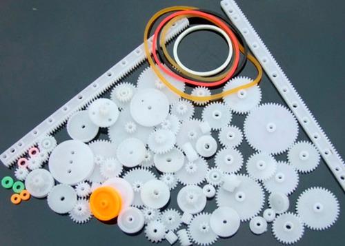 kit 75 engranajes plásticos  poleas  piñones