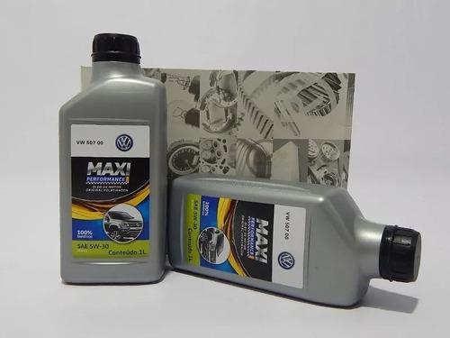 kit 7litro oleo 5w30 507 filtro e bujão original vw amarok