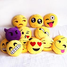 c898504f7154da Kit 8 Almofadas Emoticon Zapzap Watts Emoji Bordado 35cm