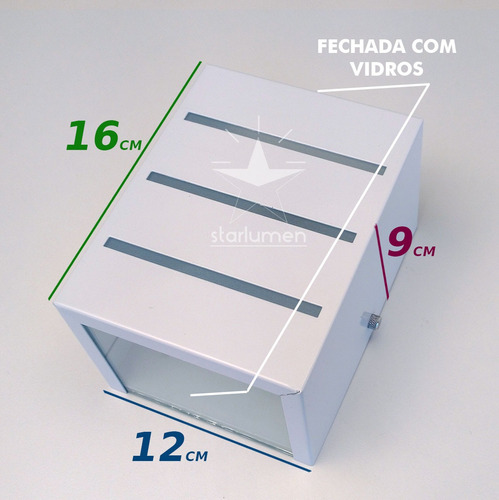 kit 8 arandela frisada + led 12w luminária aluminio st298