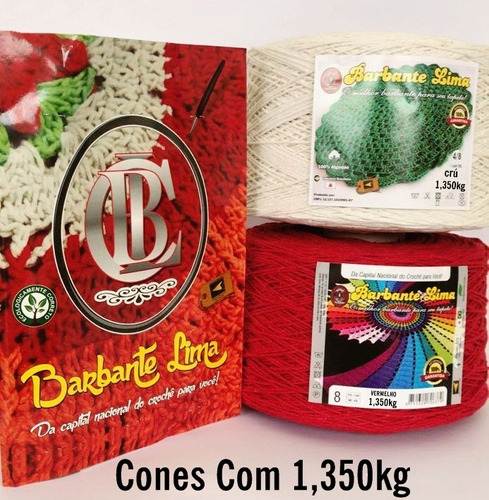 kit 8 barbantes colorido 1,350kg (10.8kg) n6 n8 ....oferta*