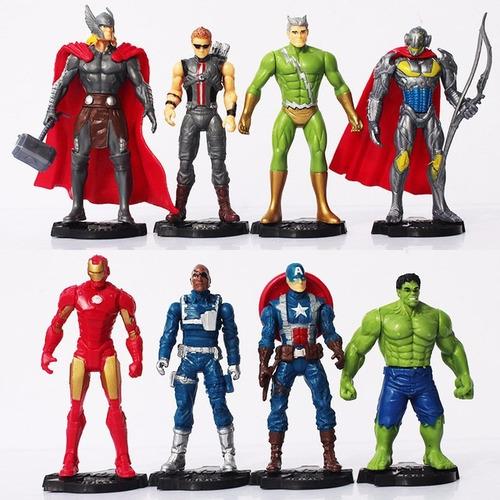 kit 8 bonecos marvel vingadores guerra infinita super heróis