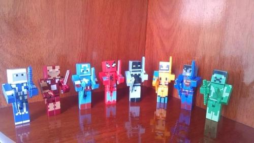 kit 8 bonecos vingadores hulk batman homem aranha