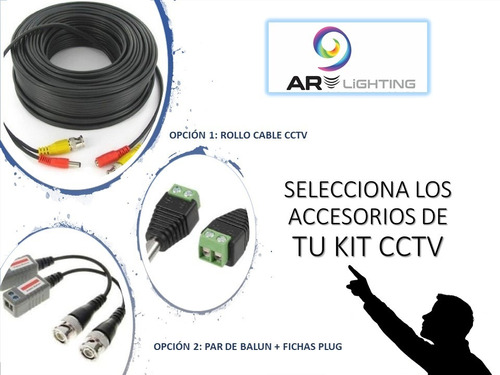 kit 8 camaras 1080p + dvr full hd 8 cctv cables disco 1tb