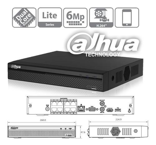 kit 8 cámaras ip  dahua 4mp full hd + nvr 8 puertos  poe  4k + disco 1tb