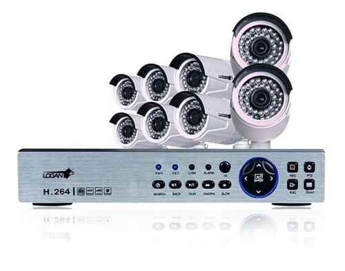 kit 8 camaras seguridad bullet 1080p dvr 8 canales hd