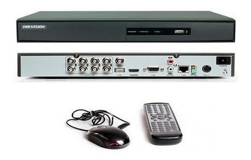 kit 8 camaras seguridad + dvr turbo hd 8 canales hikvision