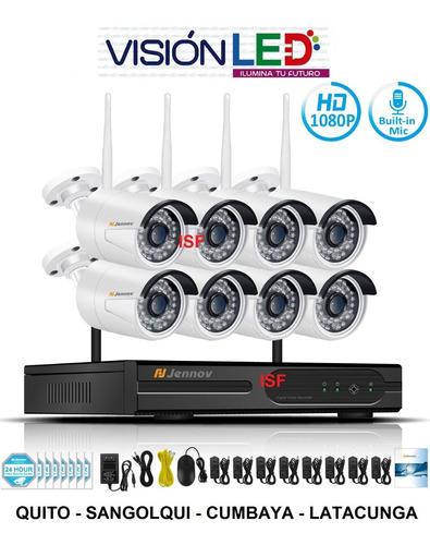 kit 8 cámaras wifi vigilancia inalámbrico + disco duro 2tera