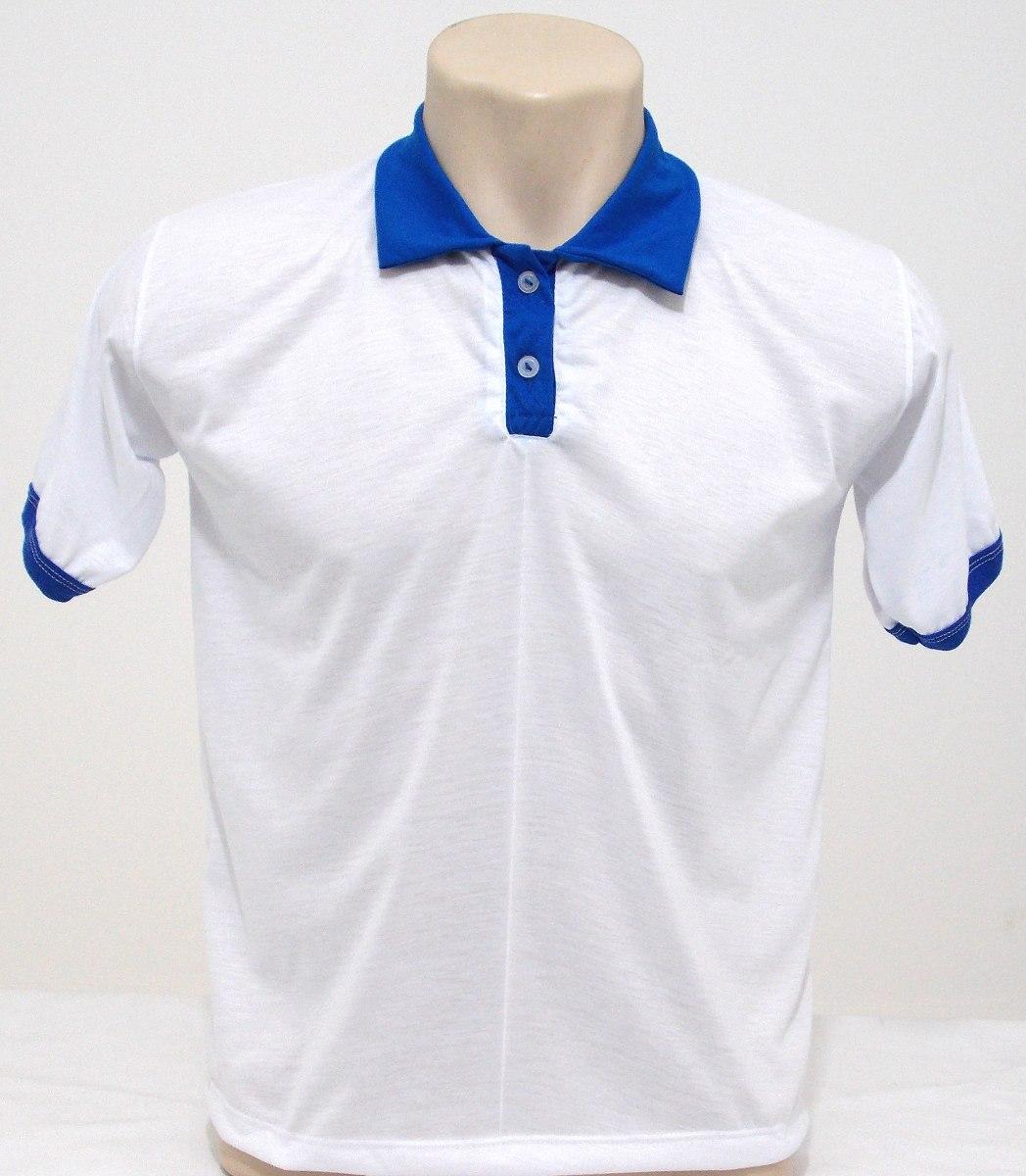 ca3e9429cb Kit 8 Camisas Polo Branca Para Sublimação - Masc fem! - R  159