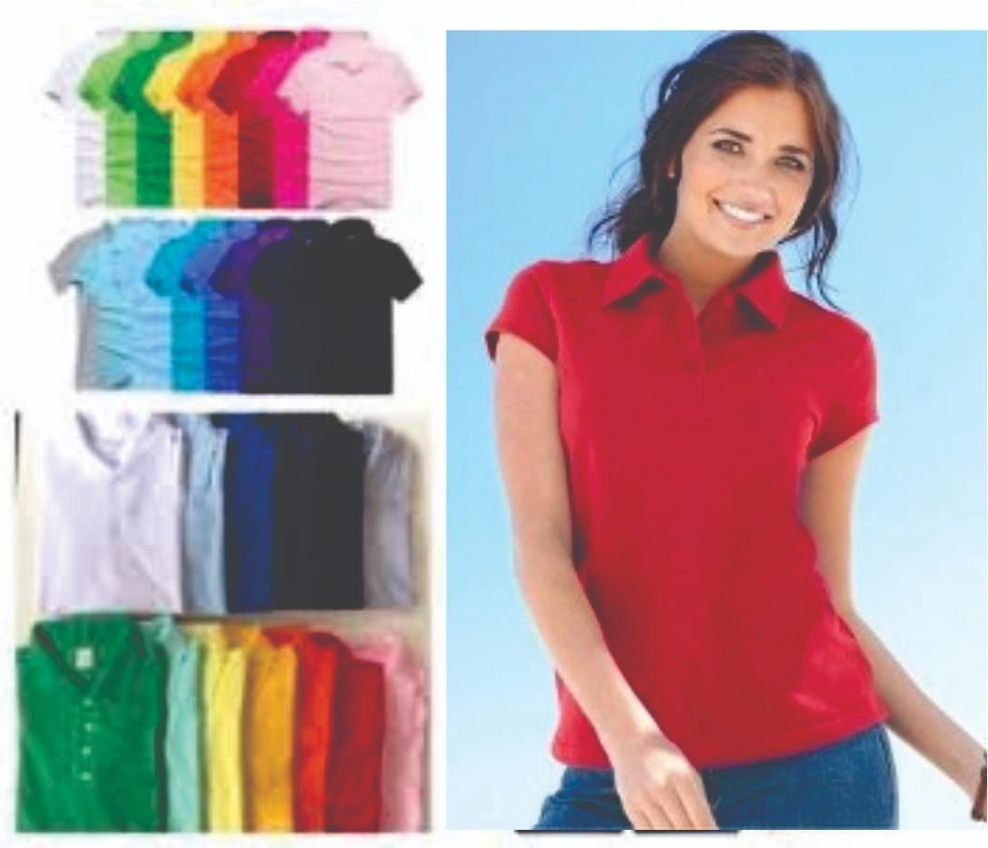 b3f8eb2c4 Kit 8 Camisas Polo Feminina Lisa Sem Estampa - R$ 179,00 em Mercado ...