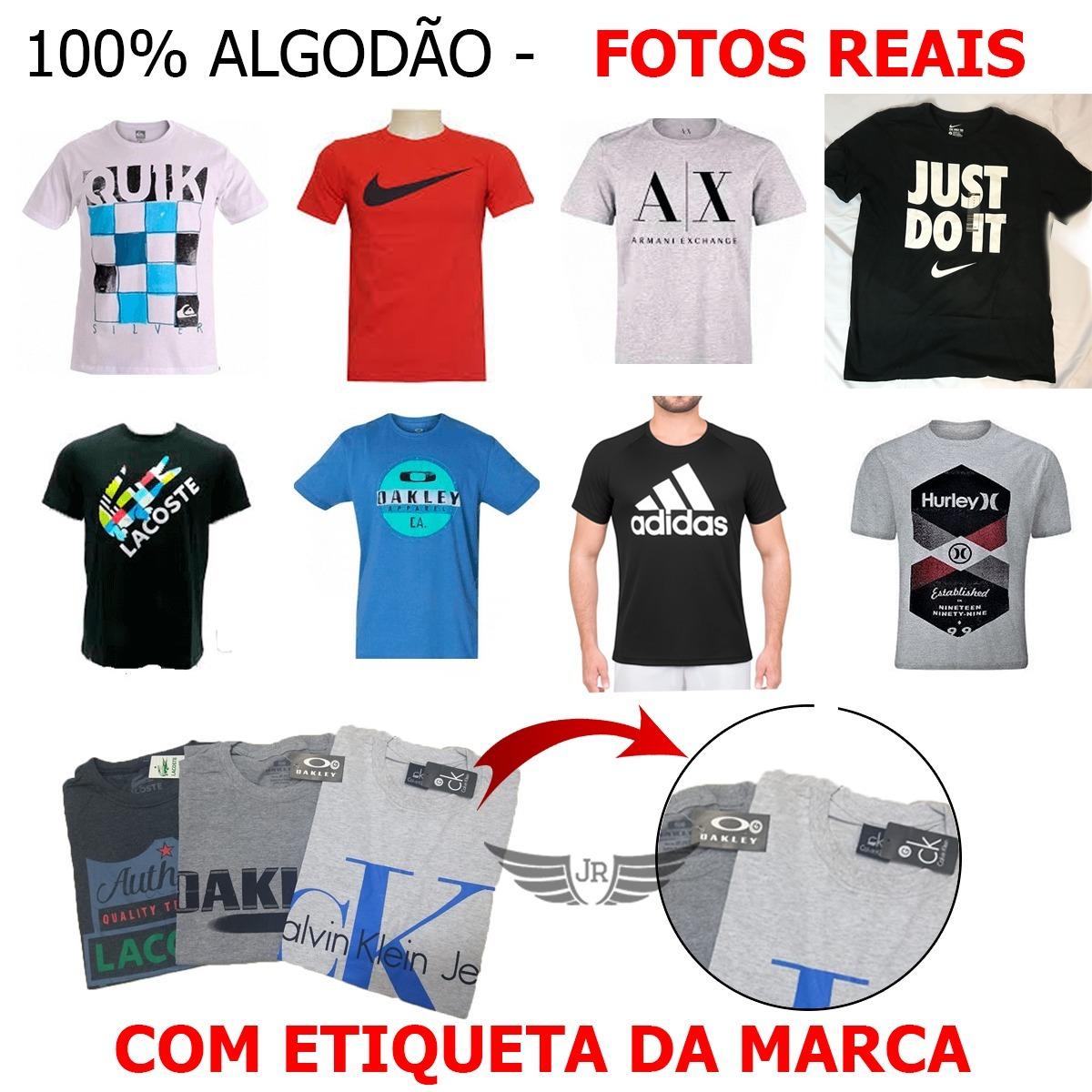 34b60016a Kit 8 Camiseta Camisa Masculina Marca Atacado Revenda C  Tag - R ...