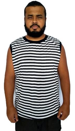 kit 8 camiseta regata masculina machão plus size até g6
