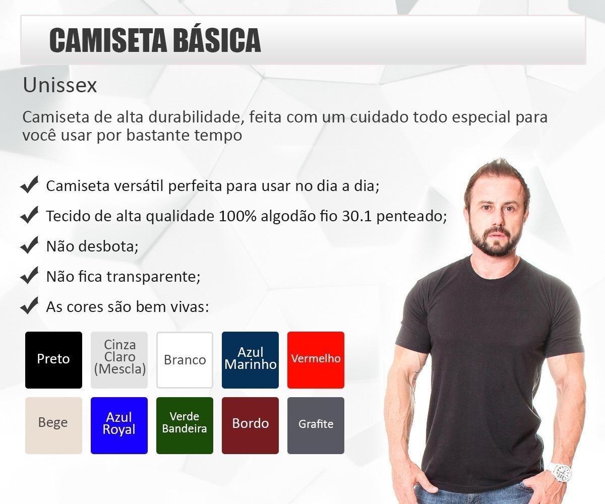 086c181fd kit 8 camisetas básicas masculina sem estampa 100% algodão. Carregando zoom.