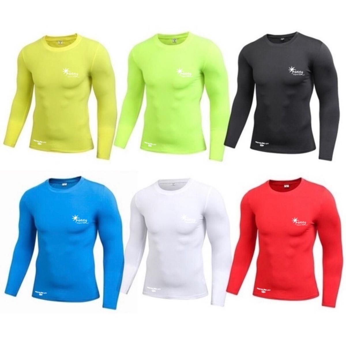 7bc8765084 kit 8 camisetas térmica segunda pele proteção uv solar fator. Carregando  zoom.