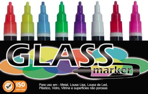 kit 8 canetas vidro window marker para vidro lojas vitrine