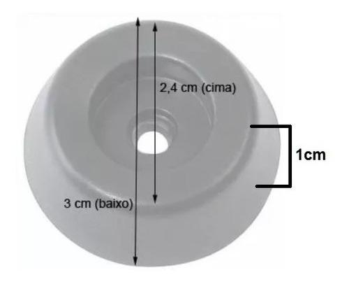 kit 8 cantoneira p/caixa de som acústica + 4 pé de borracha