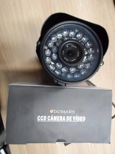 kit 8 câmeras de segurança domars 36leds infra-vermalhos 6mm
