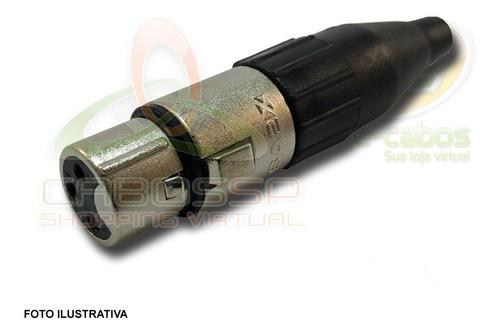 kit 8 conectores xlr macho/femea canon santo angelo sa2x