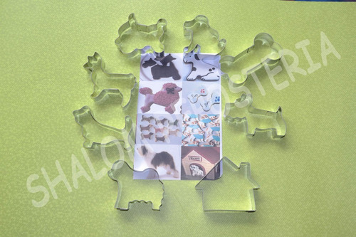 *kit 8 cortadores perros perritos paw fondant royal icing