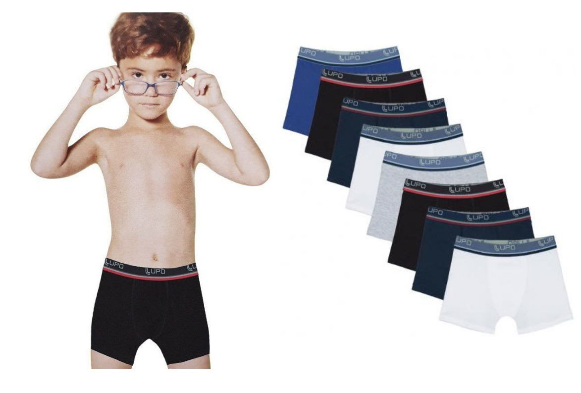 4a451b3d6 kit 8 cuecas boxer box lupo kids infantil algodão promoção. Carregando zoom.