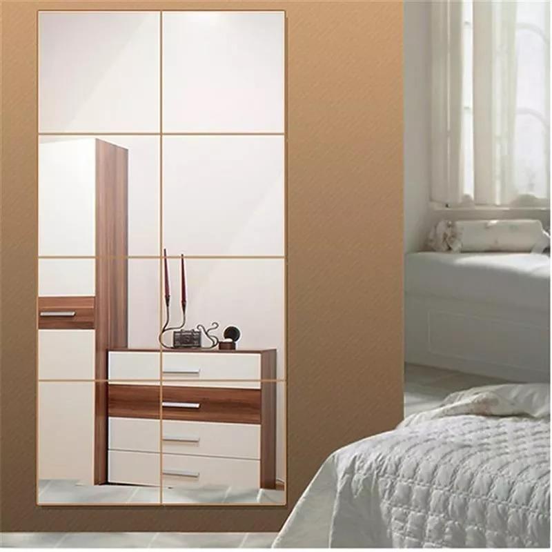 Kit 8 Espejos Cuadrados Deco Living Sala Cuarto Baño 30cmc/u ...
