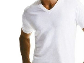 eff68f8269 Lote Camisetas Malha Fria Gola V - Calçados