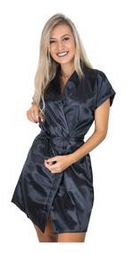 5ffc9552da7758 Kit 8 Hobby Feminino Noiva Roupão Cetim Personalizado Robe