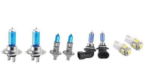 kit 8 lampadas super branca farol+milha+t10 polo hatch 06...