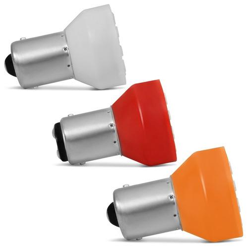 kit 8 lampadas tuning leds lanterna traseira pisca seta e ré