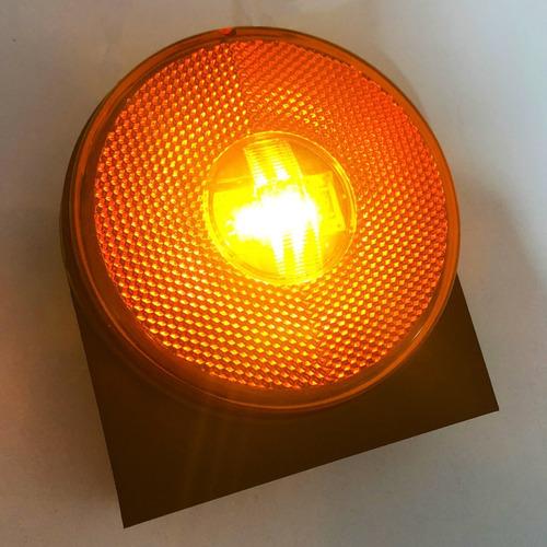 kit 8 lanterna lateral carreta randon led bivolt laranja