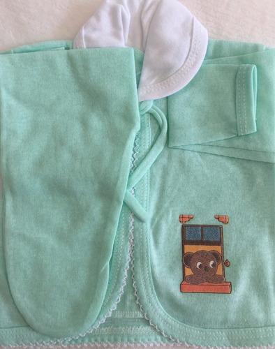 kit 8 pagão recém nascido 100% algodão varias cores conjun